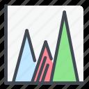 analytics, chart, diagram, graph, report, statistics, stats icon