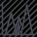 analytics, chart, graph, report, statistics, stats, triangle