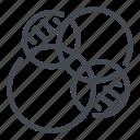 chart, circle, diagram, graph, multi, pie, report icon