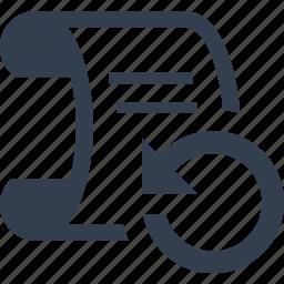 bills, chart, file, graphic, refresh, report, statistics icon