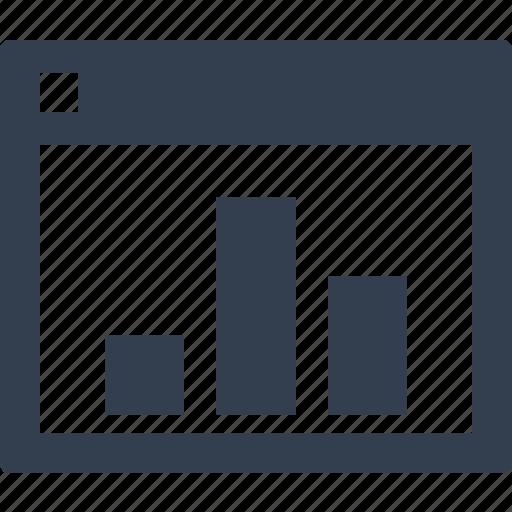 browser, chart, graphic, optimization, report, seo, statistics icon