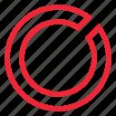analysis, analytics, bar, chart, circle, report icon