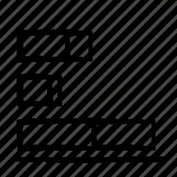 bars, chart, segment icon
