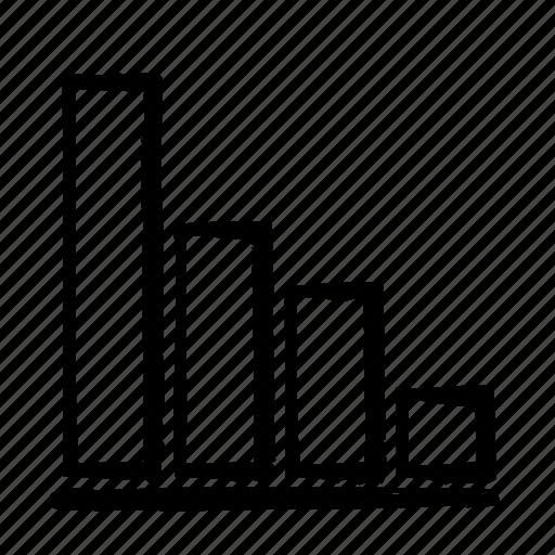 bars, chart, fall, line icon