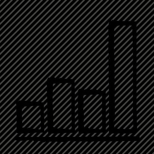 bars, chart, grow, line icon