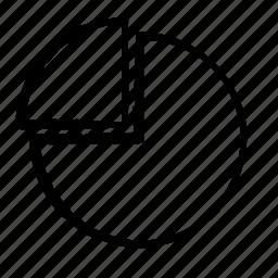 chart, circle, quarter icon