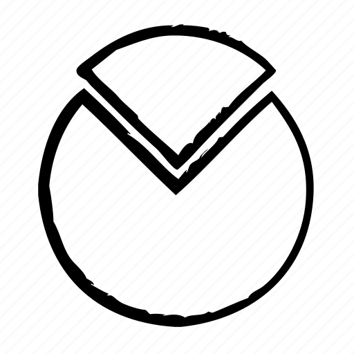 chart, circle, quarter, top icon