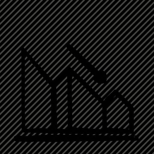 chart, fall icon