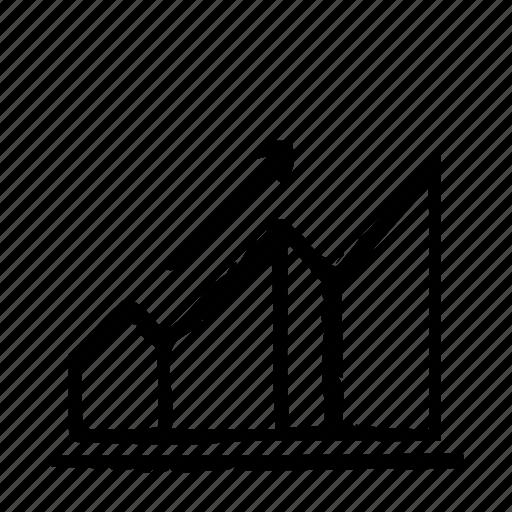 chart, grow icon