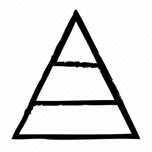 chart, pyramid icon
