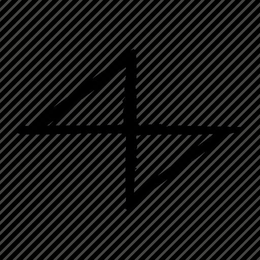 chart, sawtooth icon