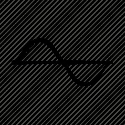 chart, sine icon