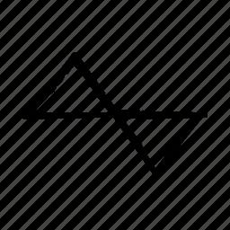 chart, triangle icon