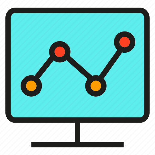 chart, computer, data, graph, plot, stats, trend icon