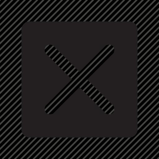 box, check, mark, mistake, no, status, wrong icon