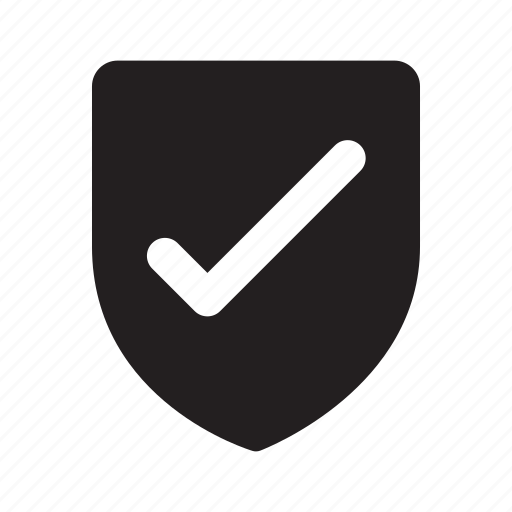 approve, check, mark, shape, shield, status, yes icon