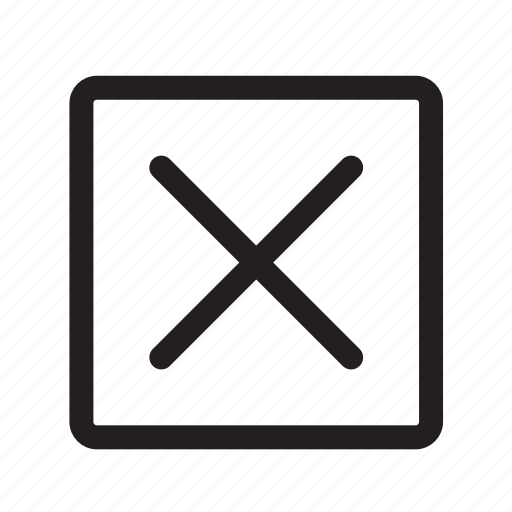 cancel, checkmark, no, offline, square, status, wrong icon