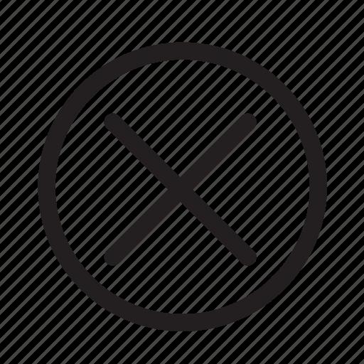 cancel, checkmark, circle, no, offline, status, wrong icon