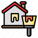brush, home, house, paint, painted icon