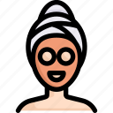 activities, enjoy, facial treatment, hobby, lifestyle, mask, stay at home icon