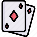 activities, enjoy, gambling poker card, game, hobby, lifestyle, stay at home icon