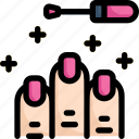 activities, enjoy, hobby, lifestyle, manicure, nail, stay at home icon