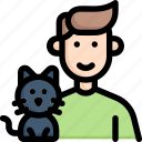 activities, cat, enjoy, hobby, lifestyle, play with pet, stay at home icon