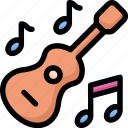 activities, enjoy, guitar, hobby, lifestyle, playing music, stay at home icon