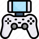activities, enjoy, hobby, joystick, lifestyle, playing video game, stay at home icon