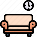 activities, enjoy, hobby, lifestyle, living room, relaxing in sofa, stay at home icon