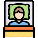 activities, bedroom, enjoy, hobby, lifestyle, sleeping, stay at home icon