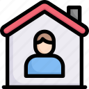 activities, enjoy, hobby, house, lifestyle, quarantine, stay at home icon