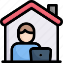 activities, enjoy, hobby, lifestyle, stay at home, work from home, working at home icon