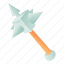 army, blade, cartoon, iron, logo, mace, object