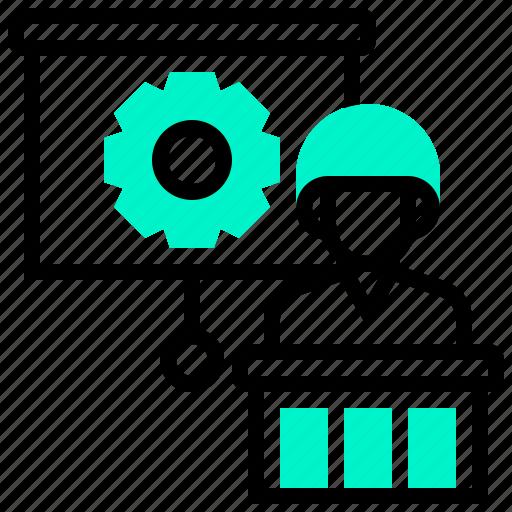 job, learning, meeting, skill, training icon
