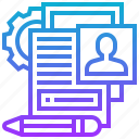 customer, document, members, personal, profile icon