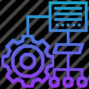 algorithm, diagram, organisation, planning, process icon