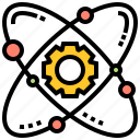 atom, electron, gear, molecule, nucleus icon