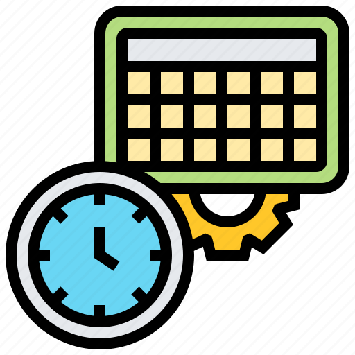 calendar, clock, schedule, table, time icon