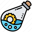 chemical, flask, laboratory, matter, science icon