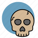 danger, death, evil, halloween, skeleton, skull icon