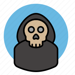 death, evil, halloween, skeleton, skull icon