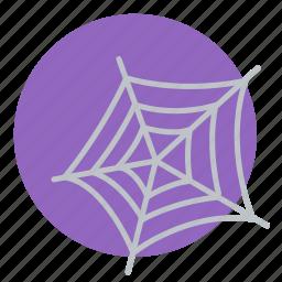 cobweb, dusty, halloween, net, spider icon