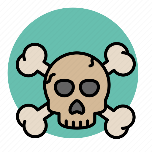 crossbones, danger, death, evil, halloween, piracy icon