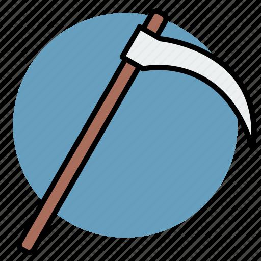 death, evil, halloween, scythe icon
