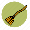 broom, evil, fly, halloween, magic, witch icon