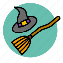 broom, evil, fly, halloween, magic, witch
