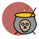 cauldron, evil, halloween, poison, toxic, witch icon
