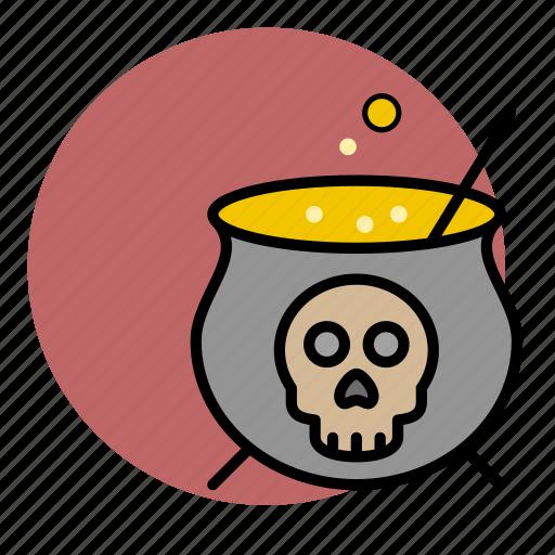 cauldron, evil, halloween, poison, toxic, witch icon