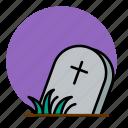 cemetery, death, grave, graveyard, halloween icon